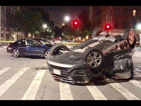 Overturned vehicle in Harlem   NYC911News