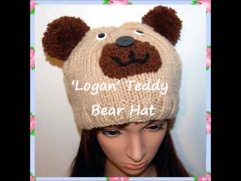 Logan Teddy Bear Hat Beanie Knitting Pattern - YouTube 34440a1323f