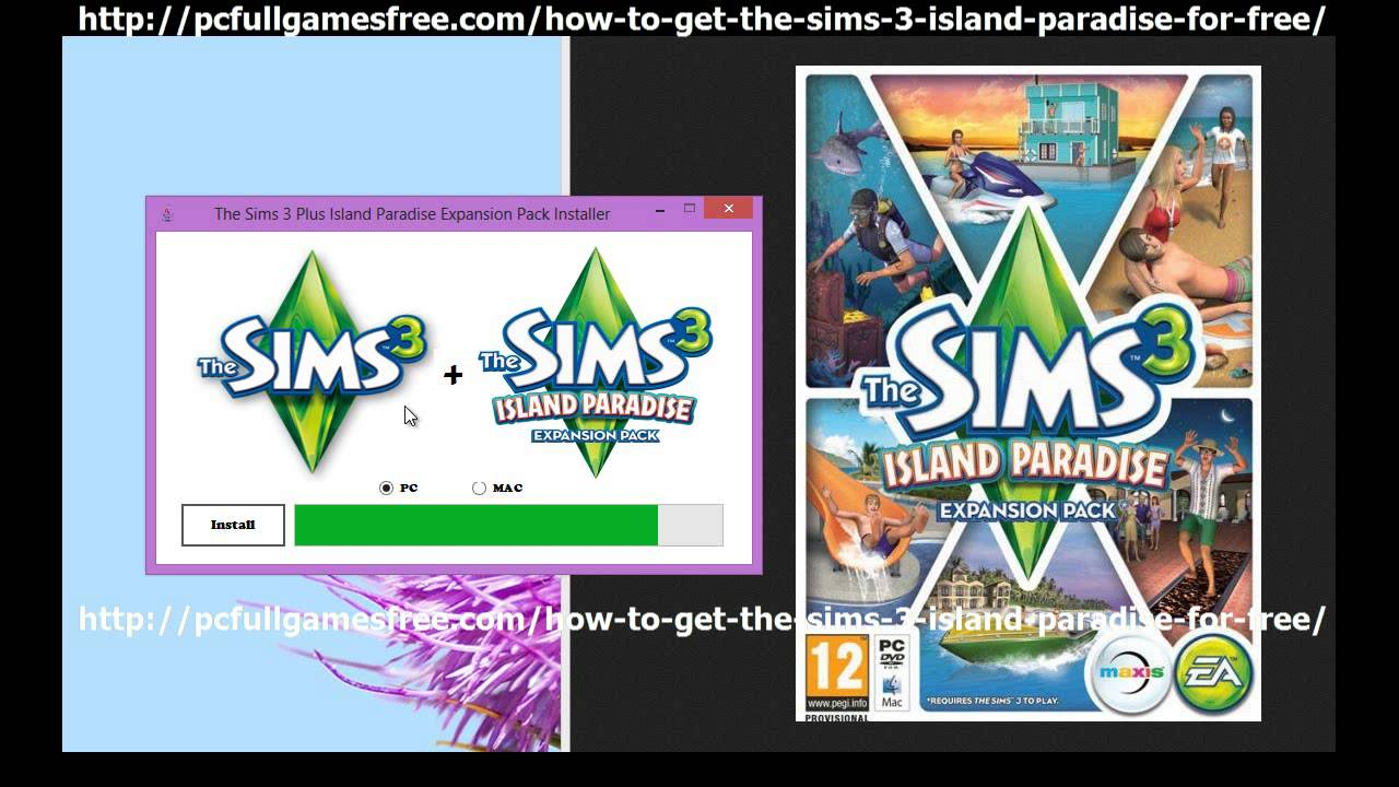 sims 3 island paradise download mac