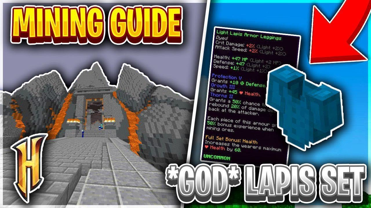 Skyblock mining guide + how to make OP lapis god set | Hypixel