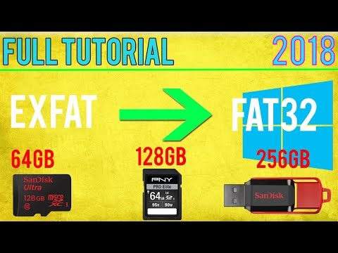 Format 64GB+ SD Card/Drive to FAT32 2018 FREE