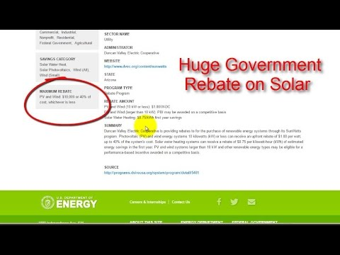 Government Sponsored Solar Program