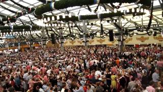 Inside the Schotten Hamel (Spaten) beer tent - Oktoberfest(You can't really hear what they're singing, but its some traditional German song where you wave your hands and stand on the tables., 2010-10-08T10:22:30.000Z)