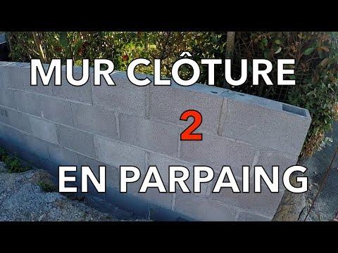 MUR CLÔTURE EN PARPAING : MAÇONNERIE DES MURS :) 2/7 LUMY101