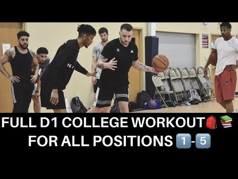 FULL D1 COLLEGE ELITE SKILLS BASKETBALL WORKOUT. FOR ALL POSITIONS: 1-5!!! MUST WATCH!!!