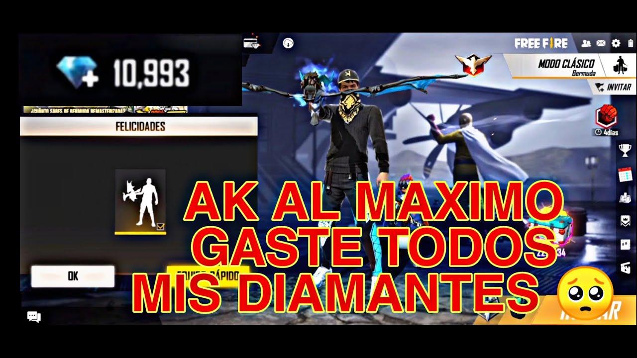 ASI MEJORAMOS LA AK DE DRAGON AL MAXIMO NIVEL | EL CHAMO FREE FIRE