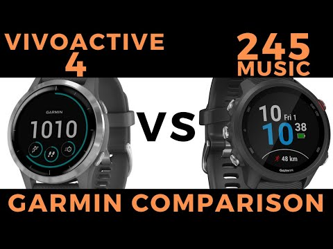 Forerunner 245 Music vs Vivoactive 4 - Garmin Smartwatch Feature Comparison and Review