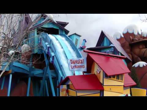 Dudley Do-Right's Ripsaw Falls special effects after the 2011 rehab