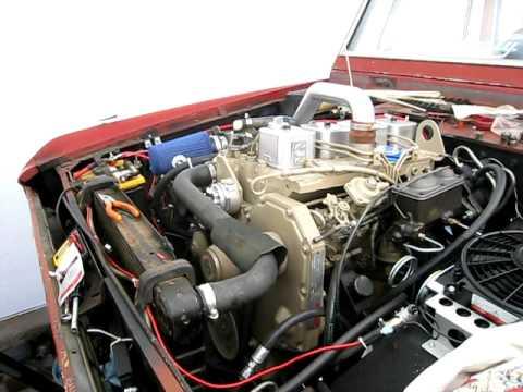 Cummins Turbo Diesel >> Cummins 4bt bronco motor running - YouTube