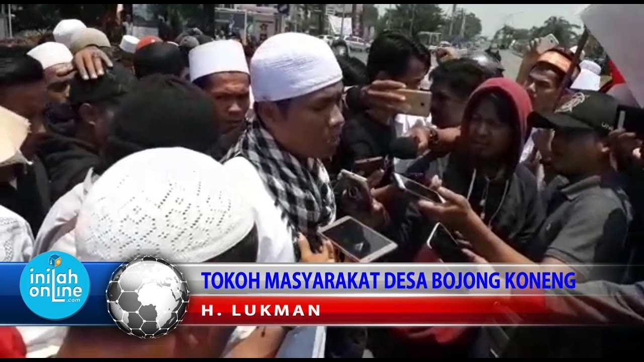 Demo Warga Desa Bojong Koneng, Tuntut Sentul City Bebaskan Kadesnya