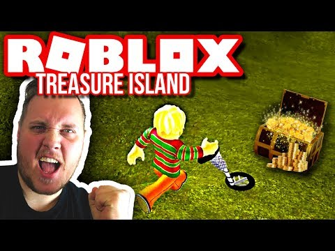FINDER SKATTE MED METALDETEKTOR! 💰 :: Roblox Treasure Island Dansk