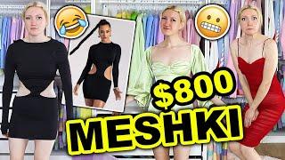I SPENT $800 ON MESHKI!!! MESHKI TRY ON HAUL 2021 (a very extra Meshki dress haul 😅)