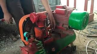 Cara menyalakan kompresor 6 pk