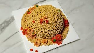 앙금플라워 코스모스 밀짚모자 케이크 만들기, (벌써 가…