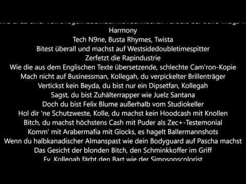 SpongeBOZZ (Kollegah diss) - SFTB/Apocalyptic Infinity/Payback lyrics