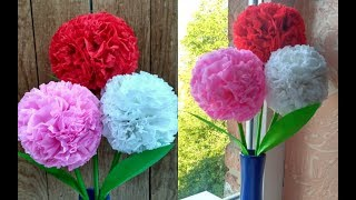 як зробити квіти з гофрованого паперу з цукерками