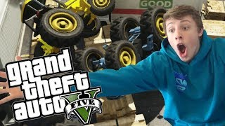 W2S Plays GTA 5 - TRACTOR TRAIN WRECK - GTA 5 Funny Moments