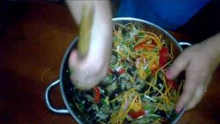 Салат из баклажан , болгарского перца и морковки на зиму.  Salad for the winter.