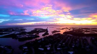 Cocoa Beach Sunset and Rainbow Aerial Video