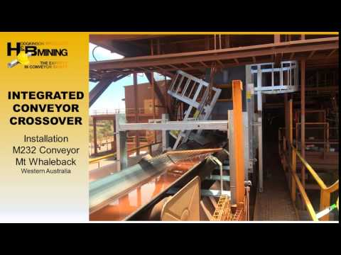 H & B Mining Integrated Conveyor Crossover Installation