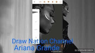 Adobe Draw 💗| Drawing Ariana Grande