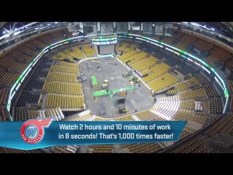 How Do They Change Floors At Boston Garden? & Rob Gronkowski Fashion Show