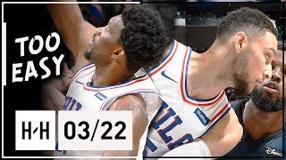 Ben Simmons & Joel Embiid Full Highlights 76ers vs Magic (2018.03.22) - TOO EASY!