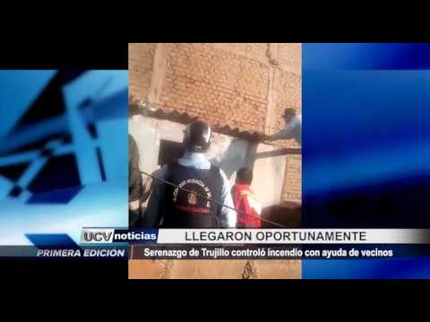 Trujillo: Serenazgo llega oportunamente para controlar un incendio