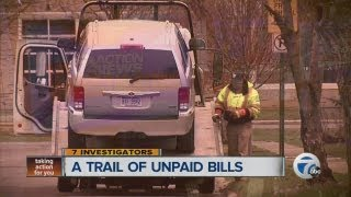 A trail of unpaid bills