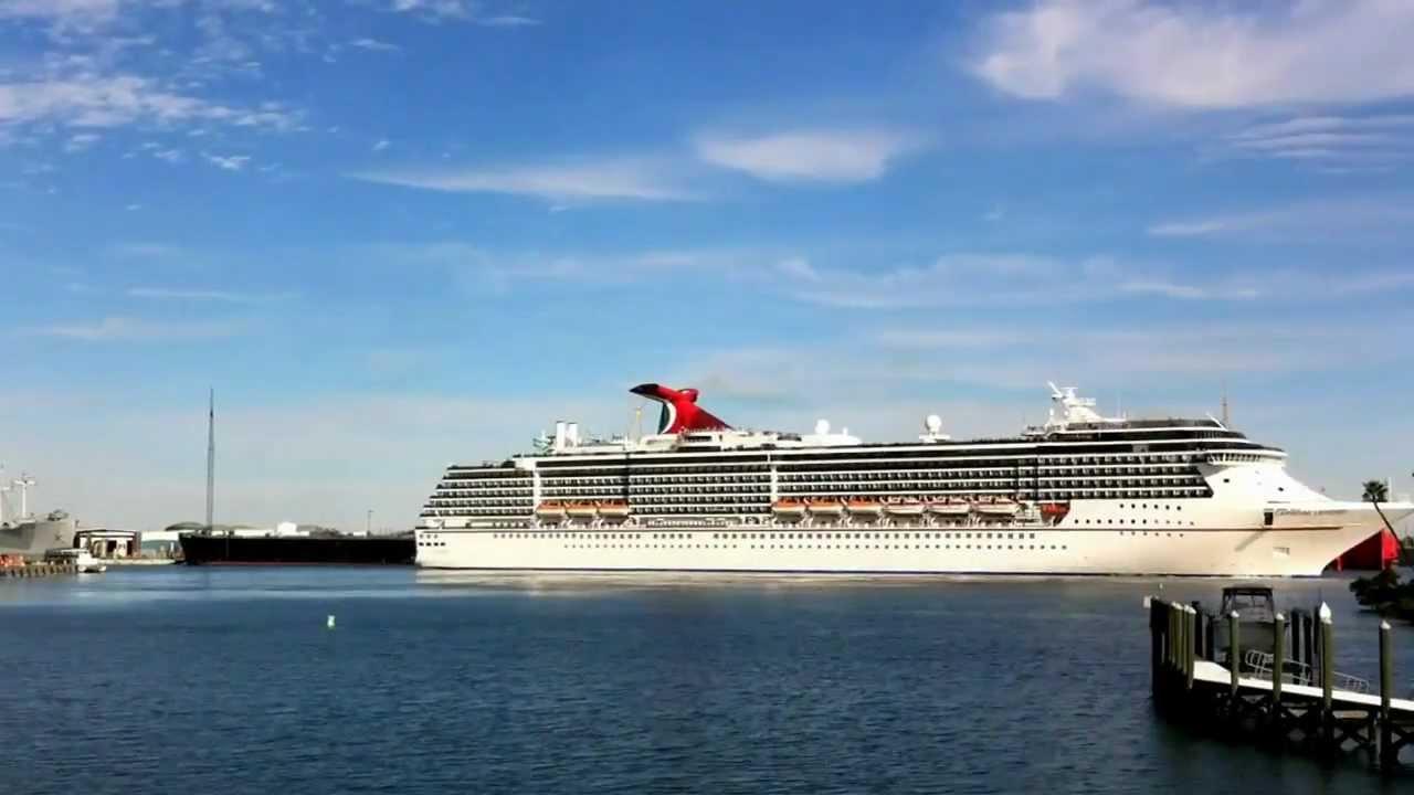 Cruise Ship Leaving Tampa FL  YouTube
