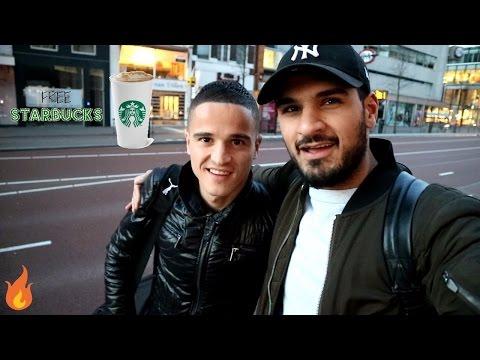 IK BEN MET IBRAHIM AFELLAY (VAN FC BARCELONA) & GRATIS STARBUCKS!! | RIZK TV VLOG #2