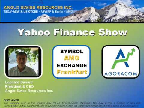 Anglo Swiss Resources - Yahoo Finance Show - December 2, 08