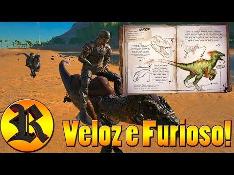 Tutorial: Domesticando e Montando no VelociRaptor - Ark: Survival Evolved