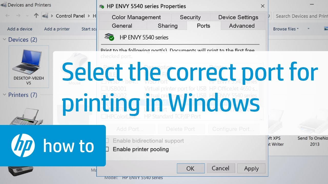 Selecting the Correct Port for Your HP Printer in Windows | HP Printers | HP