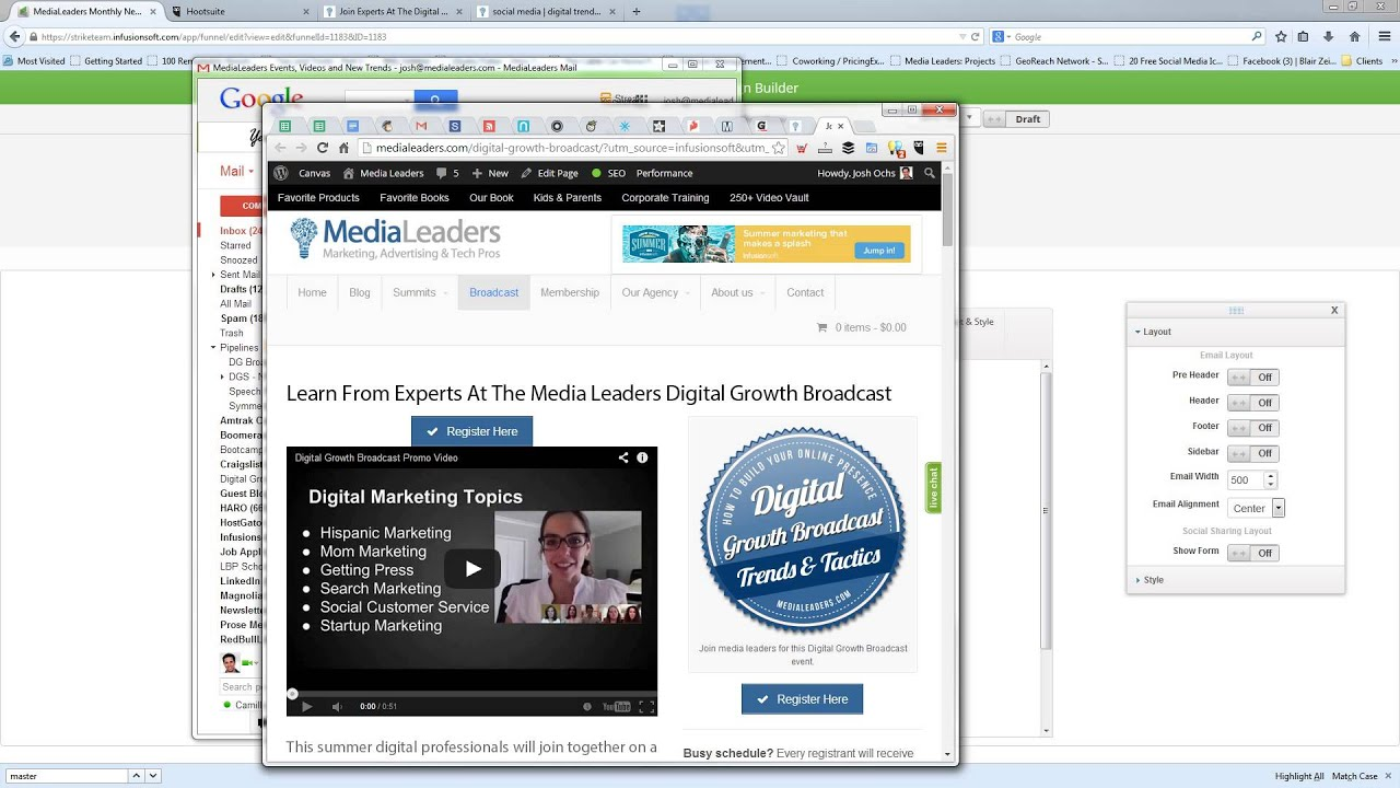 How To Send A Newsletter In Infusionsoft Youtube