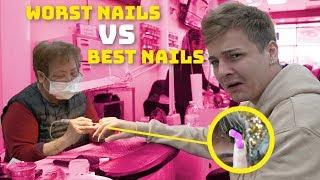 Worst Reviewed Nail Salon (1 STAR) VS. Best Reviewed Nail Salon (5 STAR)