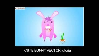 How to create a Cute Bunny Vector Character in Illustrator