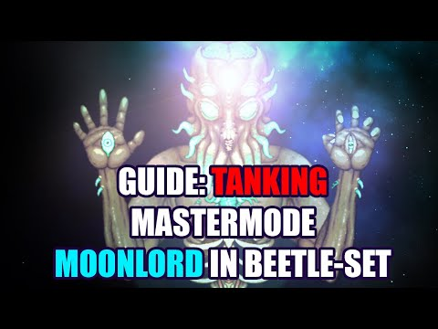 How To TANK And BEAT Master MOONLORD - A GUIDE (pre-moonlord Gear, Solo, Terraria 1.4)