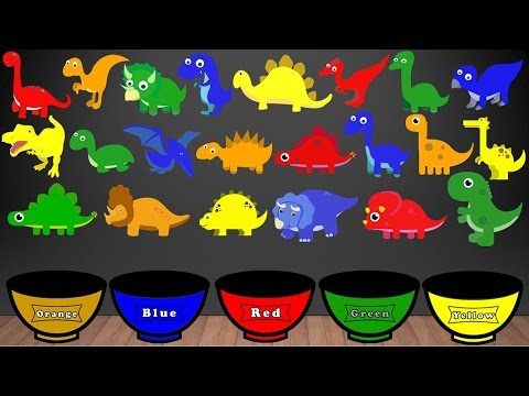 Dinosaur Colors Song, Color Sorting For Kids Educational Vid