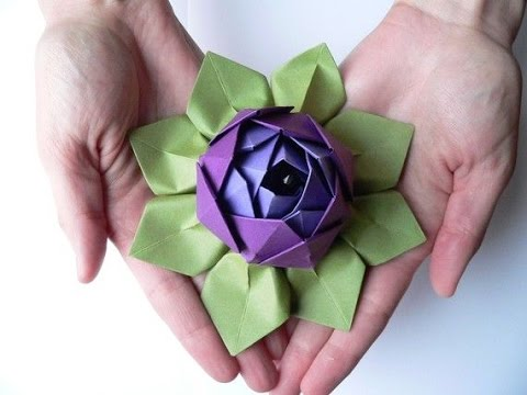 How To Make The Best Origami Lotus Flower Youtube