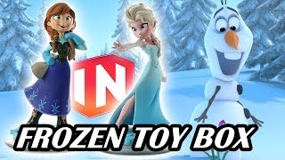 Elsa & Anna - Disney Infinity Frozen Toy Box Set w/ Dad & Sons