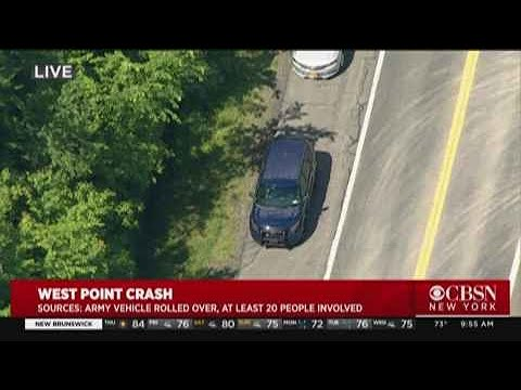 Army Vehicle Rolls Over In West Point Crash