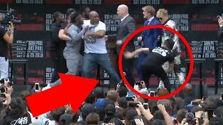 Reaction to Logan Paul VS KSI Fight on stage… **I get involved**