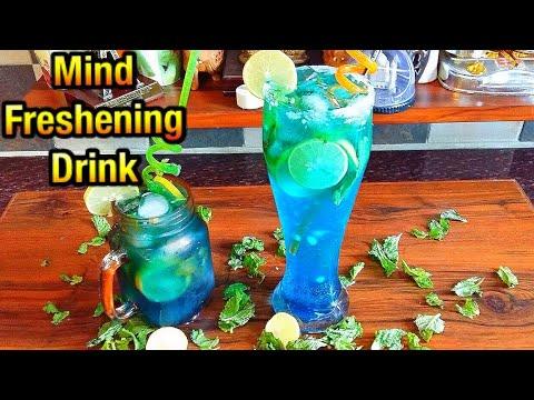 Blue Lagoon Mocktail/blue Curacao Lemonade /mocktail Recipe/non-alchoholic Drinks