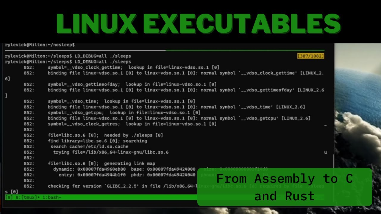 Linux Executables: From Assembly to C and Rust