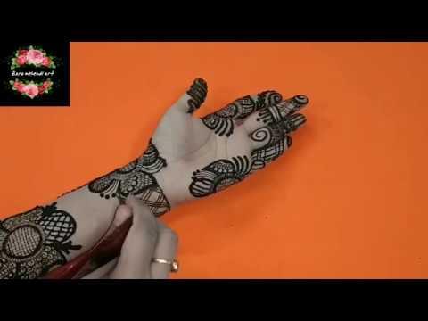 Easy Flower Full Hand Henna Design 28 Zara Mehendi Art Youtube