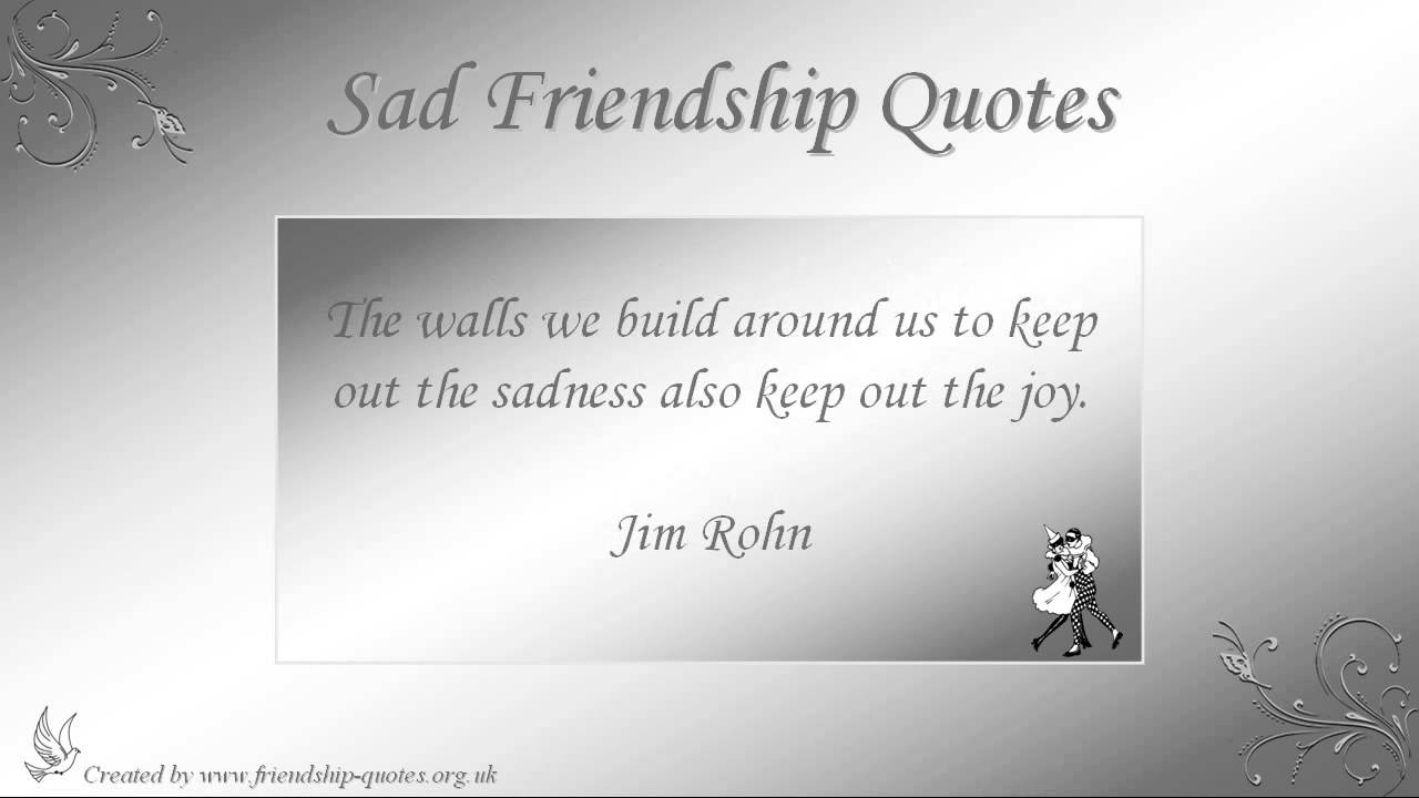 Quotes About Friendship With Images Sad Friendship Quotes  Youtube