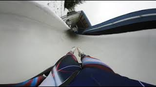 Luge run with 360 degree camara in Altenberg (Germany)