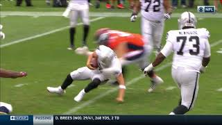 Derek Carr Suffers Back Injury On Awkward Tackle