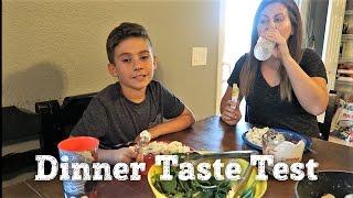 KIDS TASTE TEST TORTELLINI ALFREDO PASTA | PACKAGE FROM VIEWER | PHILLIPS FamBam Vlogs